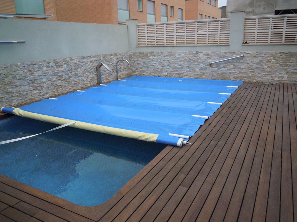 cubierta para piscina de seguridad 630gr m2 y aluminio