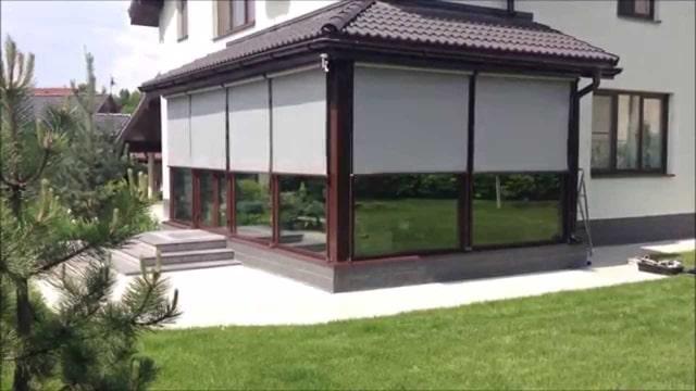 toldo vertical porche