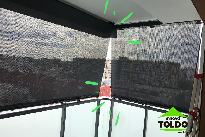 toldo vertical enrollable screen