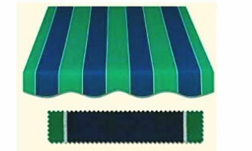 toldo verde y azul